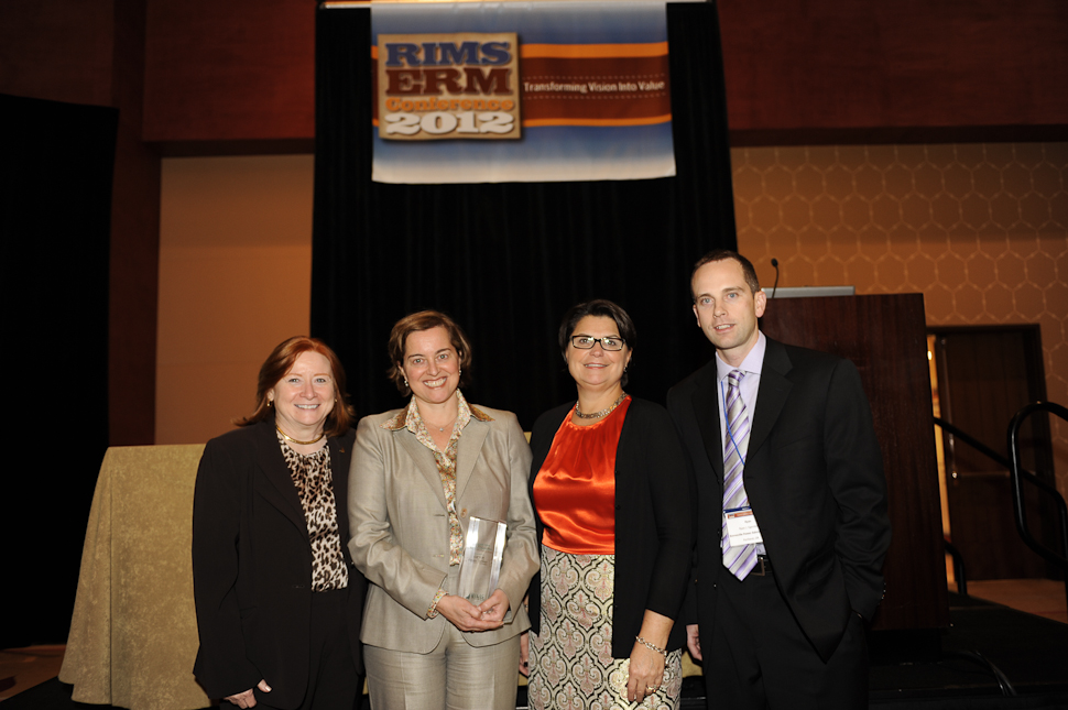 Monica Merrifield,, vice president, risk intelligence for the YMCA of Greater Toronto (second from left), received the ERM Award of Distinction.