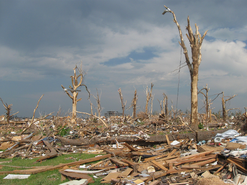 Hurricane Damage in Joplin, Missouri
