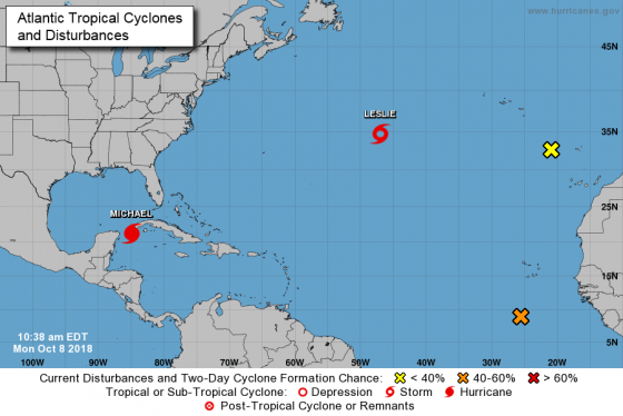 Hurricane Risk Map Florida.Tropical Storm Michael Upgraded To Hurricane Approaches Florida
