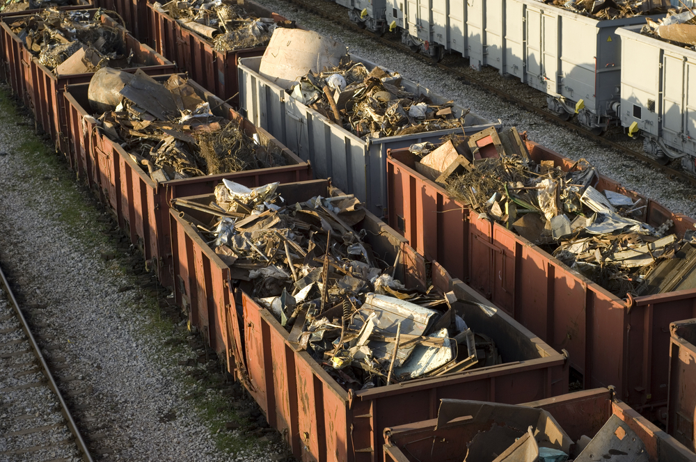 Image result for trains hauling garbage